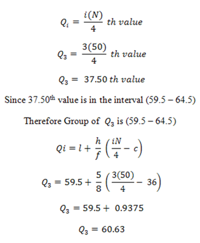 Quartile deviation for grouped data by putting the values into the formulas of quartile deviation and coefficient of quartile deviation we get ccuart Images