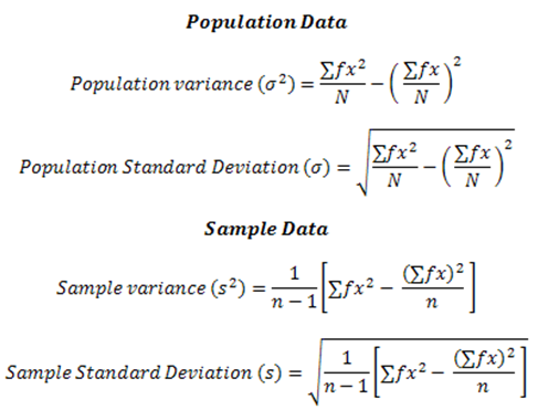 How to calculate standard deviation calculation of standard deviation for ungrouped data ccuart Image collections
