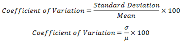 Coefficient of Variation can
