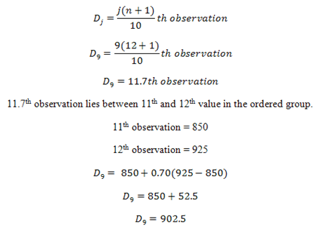How to Calculate Deciles